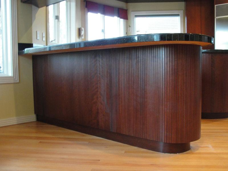brown panel island cabinet cures inc