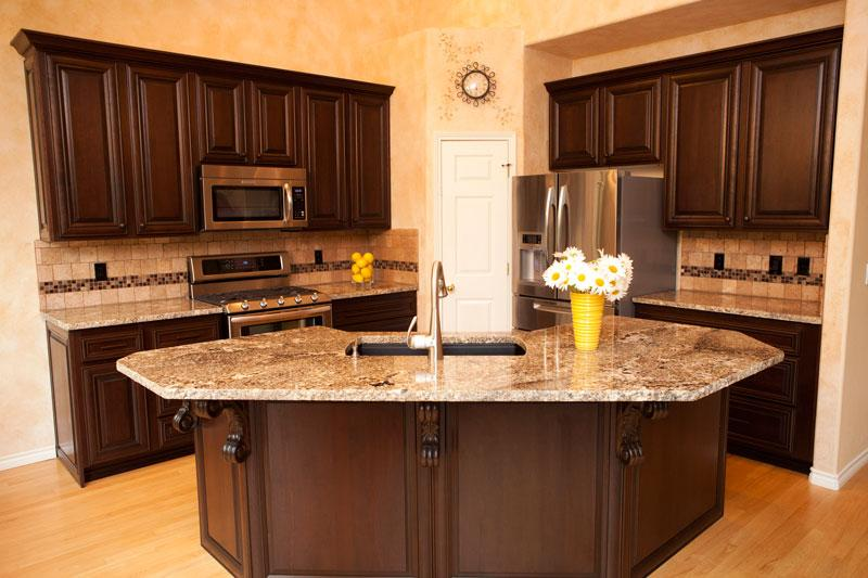 small kitchen dark brown cabinets cabinet cures inc
