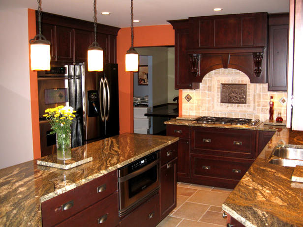 orange accented kitchen cabinet cures inc