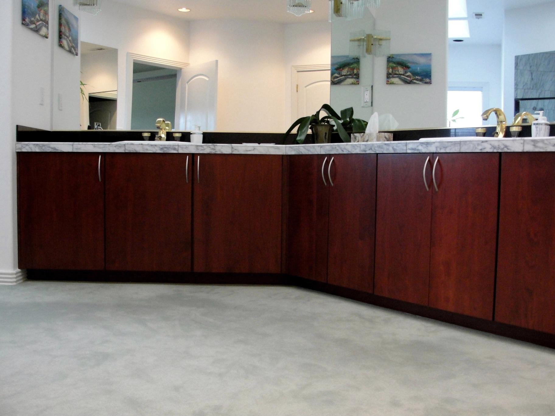 cherry stained slab cabinets cabinet cures inc